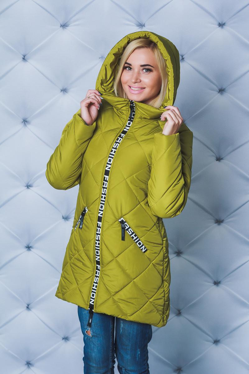 Куртка удлиненная зима Fashion оливковая
