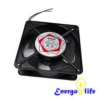 Вентилятор черный (аллюминиевый) для кухонной вытяжки, размер: 80x80x25, ST567