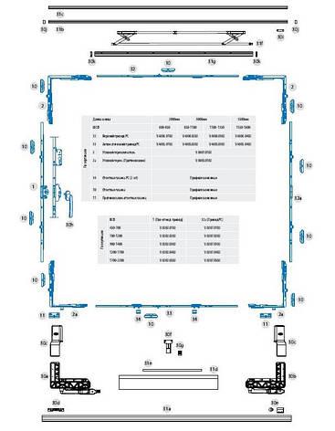 РС алюм. комплектный  набор № 2/3500 мм (белый), фото 2