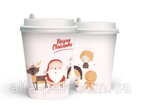 """Новогодний стакан 520 мл """"Рождественские друзья"""", фото 2"""