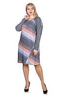 Нарядное платье большой размер Люрекс   (58-68)