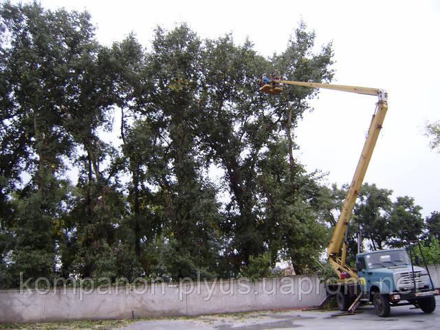 Обрезка деревьев с автовышки 22 метра