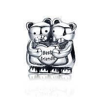"""Шарм Pandora Style (стиль Пандора) """"Мишки - лучшие друзья"""""""