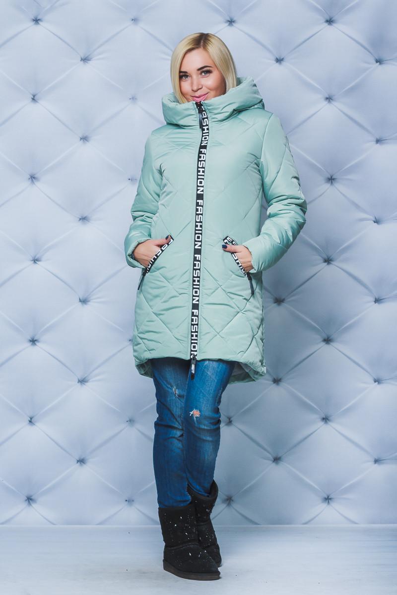 Куртка удлиненная зима Fashion мята