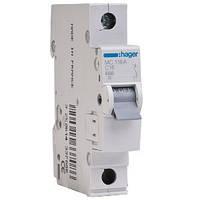 Автоматический выключатель МС116А ln=16А, 1р, С, Hager