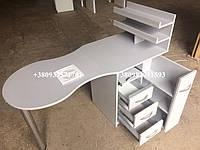 Складной маникюрный столик с УФ лампой и вытяжкой 16Вт. Модель V140 белый, фото 1