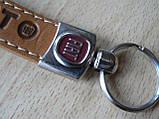 Брелок хлястик Fiat 110мм  логотип эмблема Фиат автомобильный на авто ключи, фото 4