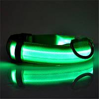 Светящийся ошейник для животных на батарейках