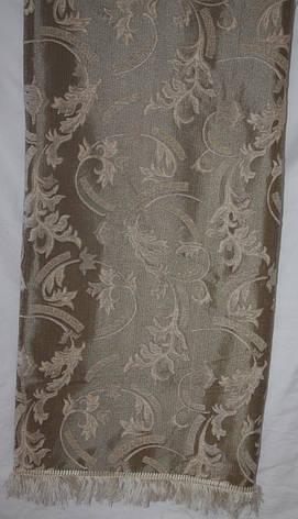 Полуторное покрывало (дивандек) на кровать Версаче бежевое, фото 2