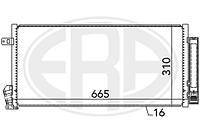 Радиатор кондиционера Фиат добло Fiat Doblo  1.3 D Multijet (2010-);
