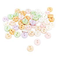 Пуговицы Мини Dress It Up в светлых пастельных тонах, 40шт, микс из 5 цветов, Tiny Victorian