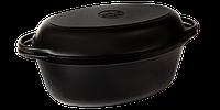 Чугунная утятница с крышкой-сковородой эмалированная(320х200х130, V=5л)