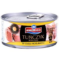 Тунец Amerigo Tunczyk в растительном масле (кусочками) 185g