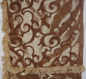 Вензель мелкий (песочный) полуторное покрывало на диван, кровать, тахту , фото 2