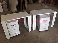 Стол для маникюра с мобильной тумбой Модель  V156 белый, фото 1