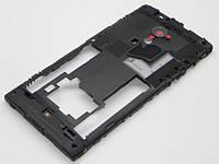 Корпус Sony Mobile Xperia Ion (LT28i) средняя часть со стеклом камеры black, оригинал
