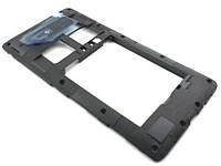 Корпус HTC Desire 600 dual (606w) средняя часть со стеклом камеры Black, оригинал