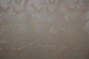 Вензель мелкий (молочный) полуторное покрывало на диван, кровать, тахту , фото 2