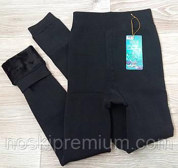 Лосины женские хлопок на меху Шугуан, чёрные, размер XL, 6032-1