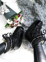 Размер 40/41!!!! Chiara Ferragni Womens Snow Boots Black / луноходы/ мунбутсы