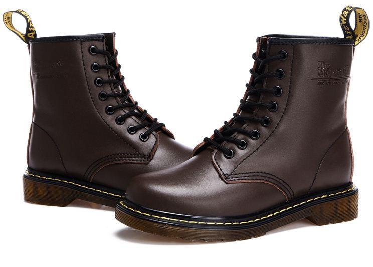 Зимние мужские ботинки Dr.Martens 1460 коричневые - Интернет магазин обуви  Air Shoes в Киеве a57610270bee7