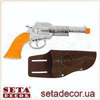 Револьвер Ковбойский в кобуре карнавальный