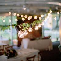 Ретро гирлянда (Шаг лампы 100 см)