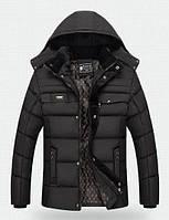 Мужская зимняя куртка GYFS Barbour Black-Grey