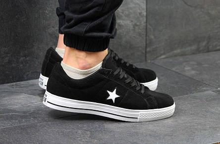 Мужские кеды,кроссовки Converse All Star черно-белые, фото 2