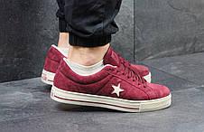 Мужские кеды,кроссовки Converse All Star бордовые 44р, фото 2