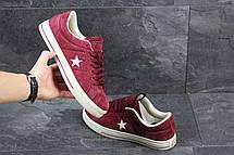 Мужские кеды,кроссовки Converse All Star бордовые 44р, фото 3