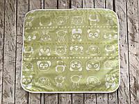 Непромокаемая пеленка 60*80, мишка и друзья салатовая