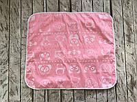 Непромокаемая пеленка (размер 60*80) Мишка и друзья розовая