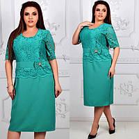Красивое нарядное кружевное платье супер батал до 60-го размера