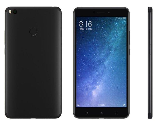 "Смартфон Xiaomi Mi Max 2 Black, Global, 4/64Gb, 8 ядер, 12/5Мп, 6.44"" IPS, 2 sim, 4G, 5300мАh."