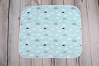 Непромокаемая пеленка (размер 60*80) Облака