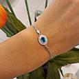 Браслет женский серебро 925 с голубым камнем , фото 2