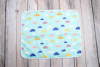 Непромокаемая пеленка (размер 60*80) Цветные облака