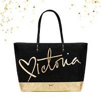 Стильная черно-золотая сумка от Victoria's Secret