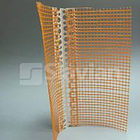 Уголок ПВХ перфорированный универсальный, с сеткой 10х10см, 15м