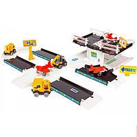 Детский Игровой Трек Аэропорт 53350 Wader, Игрушечный набор Аэропорт Kid Cars 3D