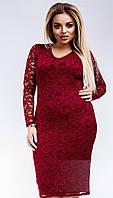 Нарядное и очень красивое гипюровое платье большого размера 50-54  короткое до колена