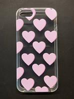 Силиконовый чехол для Apple iPhone 5/5s/5se. розовый фламинго