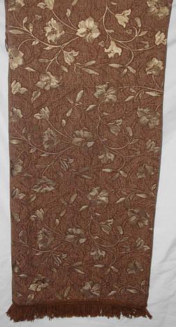 Покрывало гобеленовое Глория коричневый на полутороспальную кровать, фото 2