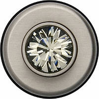 Нажимная кнопка Black Diamond, цвет - стальной, 1.5А / 24В, Berker TS Crystal