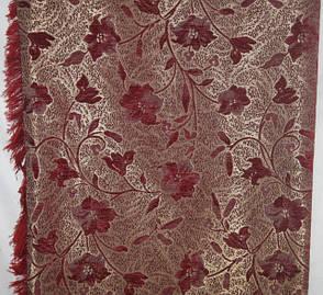 Покрывало гобеленовое Глория красный на полутороспальную кровать, фото 2
