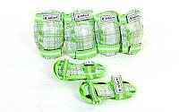 Защита детская наколенники, налокотники, перчатки ZELART CANDY 4678 (зеленый)