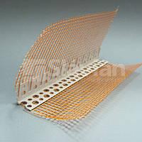 Уголок арочный ПВХ, с сеткой 10х10, 3м