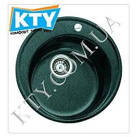 Мойка круглая Тека Centroval 45 TG (врезная, черный металик, 510 х 510)