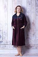 Женский велюровый халат стрекозки, фото 1